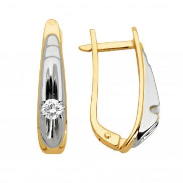 Сережки з 1 діамантом 822-0358