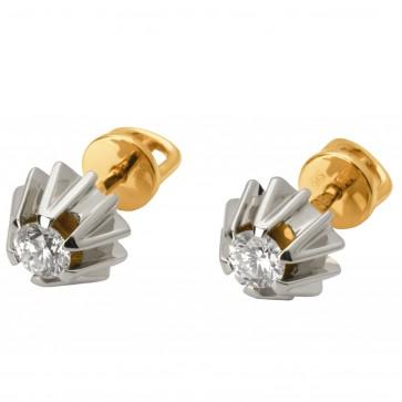 Сережки з 1 діамантом 822-0773