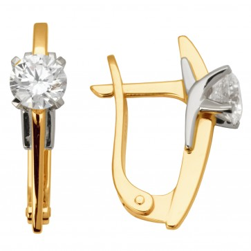 Сережки з 1 діамантом 822-0774