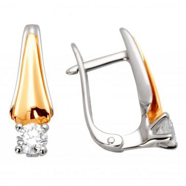Сережки з 1 діамантом 822-0867