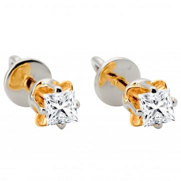 Сережки з 1 діамантом 822-0881.12