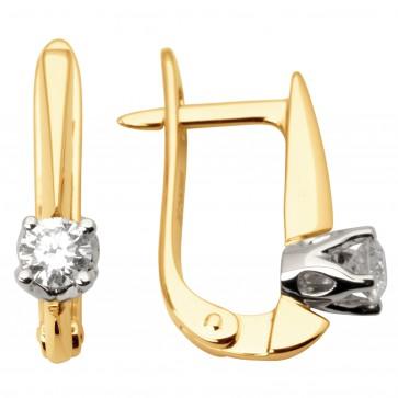 Сережки з 1 діамантом 822-0949