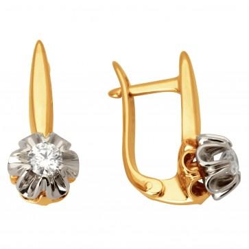 Сережки з 1 діамантом 822-0954