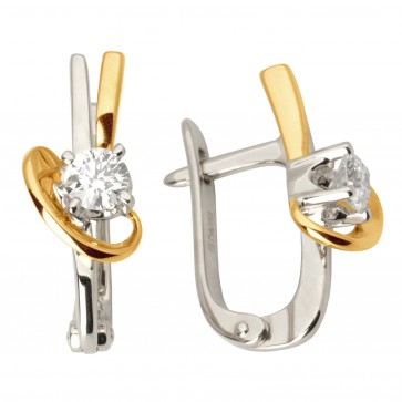 Сережки з 1 діамантом 822-0983