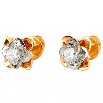 Сережки з 1 діамантом 822-1144