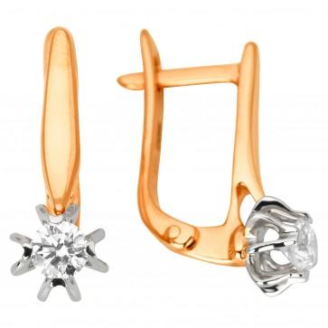 Сережки з 1 діамантом 822-1182