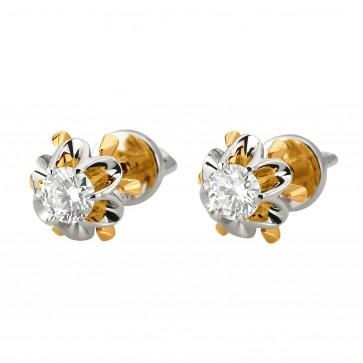 Сережки з 1 діамантом 822-1265