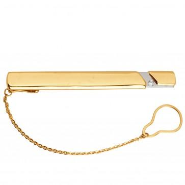 Затискач для краватки з 1 діамантом 825-0079