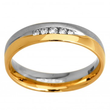 Обручка з декількома діамантами 841-0908