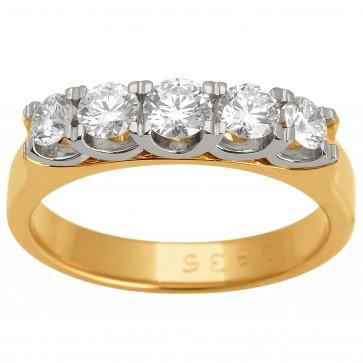 Каблучка з декількома діамантами 841-1529