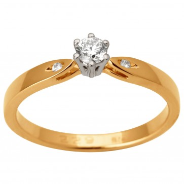 Каблучка з декількома діамантами 841-1693