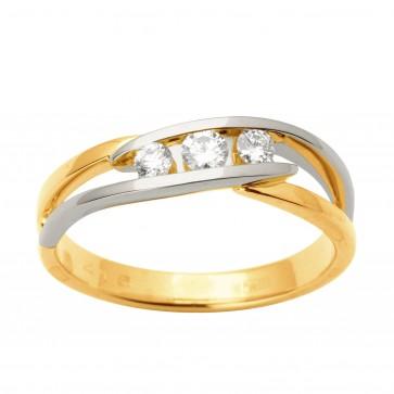 Каблучка з декількома діамантами 841-1700