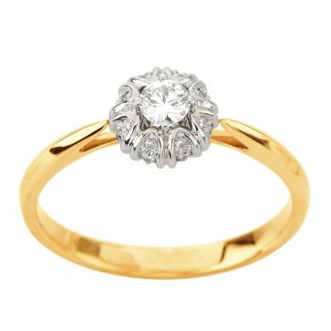 Каблучка з декількома діамантами 841-2203