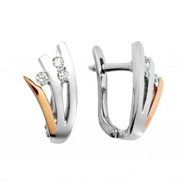 Сережки з декількома діамантами 842-0264