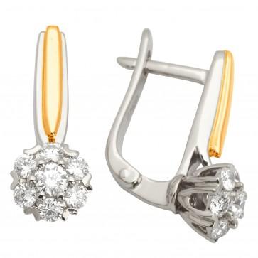 Сережки з декількома діамантами 842-0879