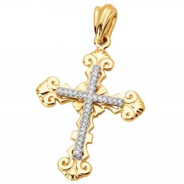 Хрест з декількома діамантами 849-0603