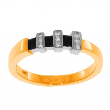 Каблучка з діамантами та кольоровим камінням 881-0379