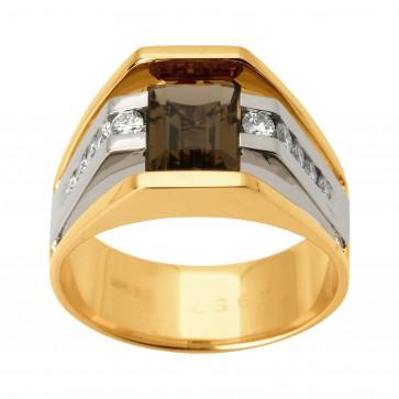 Перстень з діамантами та кольоровим камінням 881-1246