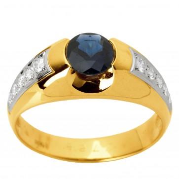 Перстень з діамантами та кольоровим камінням 881-1256