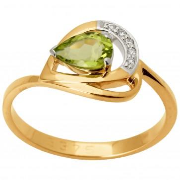 Каблучка з діамантами та кольоровим камінням 881-1410