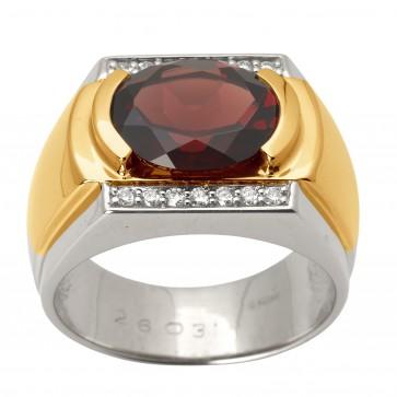 Перстень з діамантами та кольоровим камінням 881-1421