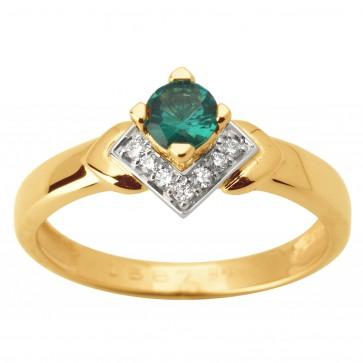 Каблучка з діамантами та кольоровим камінням 881-1627