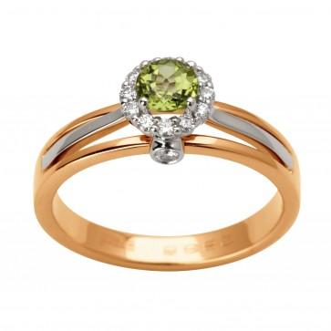 Каблучка з діамантами та кольоровим камінням 881-1667