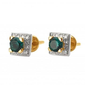 Сережки з діамантами та кольоровим камінням 882-0896