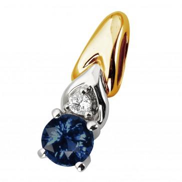 Підвіска з діамантами та кольоровим камінням 889-0839