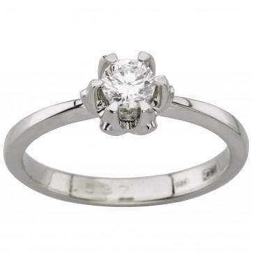 Кольцо с 1 бриллиантом 921-1843