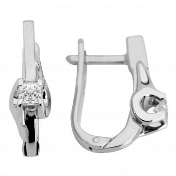 Сережки з 1 діамантом 922-0388.12