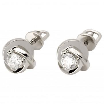 Сережки з 1 діамантом 922-0730