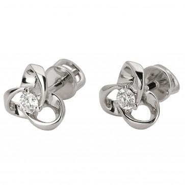 Сережки з 1 діамантом 922-0761