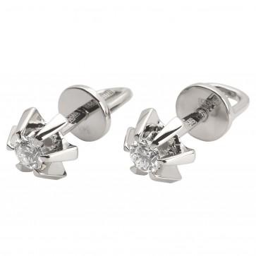 Сережки з 1 діамантом 922-0841