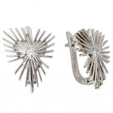 Сережки з 1 діамантом 922-0843