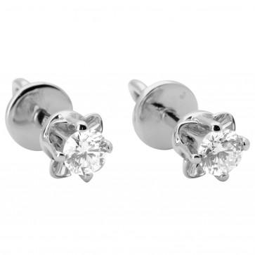 Сережки з 1 діамантом 922-0881