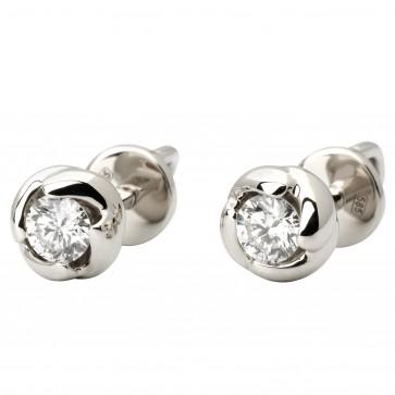 Сережки з 1 діамантом 922-1069