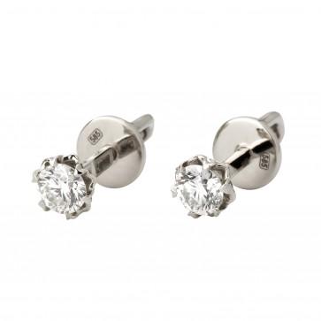 Серьги с 1 бриллиантом 922-1103