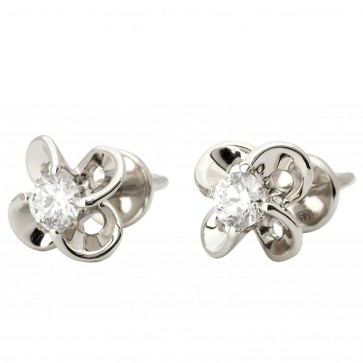 Сережки з 1 діамантом 922-1130