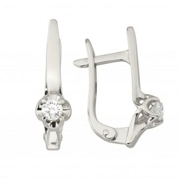 Сережки з 1 діамантом 922-1232
