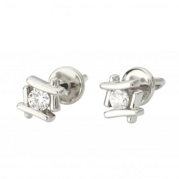 Сережки з 1 діамантом 922-1261