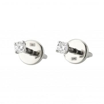 Сережки з 1 діамантом 922-1328