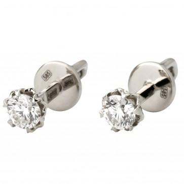 Сережки з 1 діамантом 922-1419