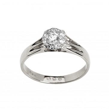 Каблучка з декількома діамантами 941-0142