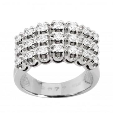 Каблучка з декількома діамантами 941-0513