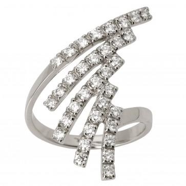 Каблучка з декількома діамантами 941-0519