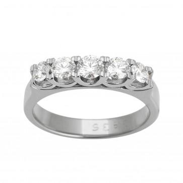 Каблучка з декількома діамантами 941-0595