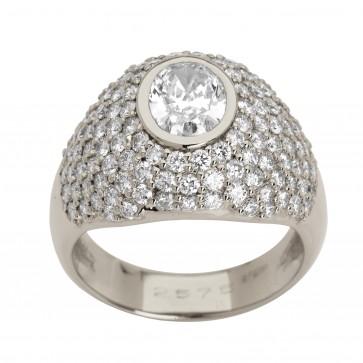 Каблучка з декількома діамантами 941-0717