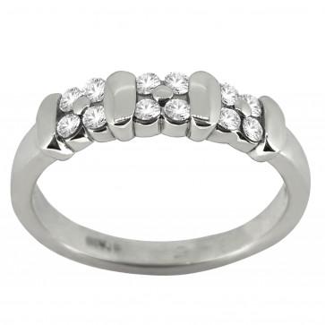 Каблучка з декількома діамантами 941-1111
