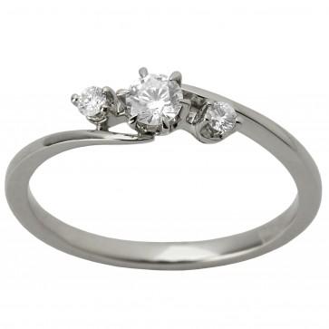 Каблучка з декількома діамантами 941-1215